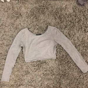 Heather gray long sleeve F21 crop top, S